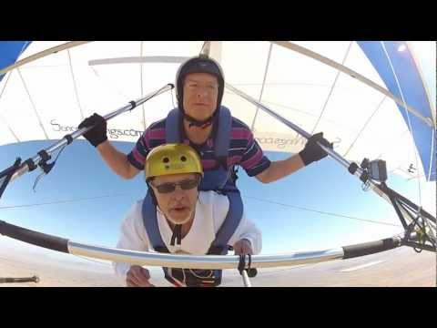 Mark's First Hang Gliding Experience - Read Description Below First.