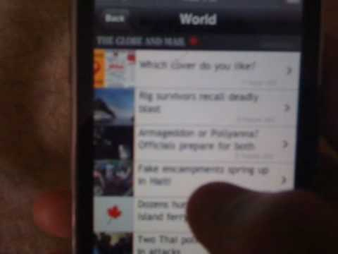 The Globe and Mail iPhone App Review