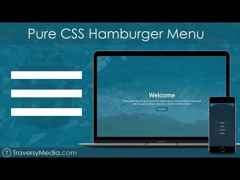 Pure CSS Hamburger Menu & Overlay