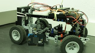 Worlds first lego car (chassis) radio controlled with Micro:Bit