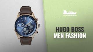 Hugo Boss Men Fashion [Hot New Arrivals 2018]: Hugo Boss Watch Mens Chronograph Quartz Leather Strap