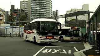 【京王バス東】空港連絡バス武蔵小金井~羽田空港線 調布駅北口到着