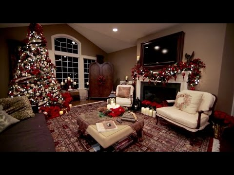 christmas decorations for the living room s family room decorated for 26835
