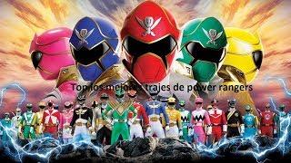 Top 10 los mejores trajes de los POWER RANGERS!!!