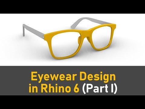 How To 3D Model An Eyewear in Rhino 6 (Part I) : Rhino Jewelry CAD Design Tutorial #71 (2019)