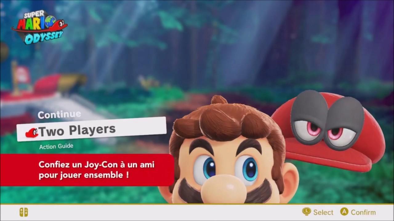 Super Mario Odyssey Mode Deux Joueurs Fr Nintendo Switch