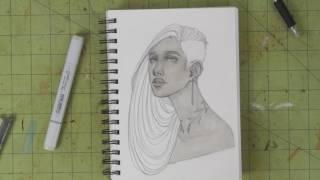 Watch Me Draw - Sketchbook Copic Doodle