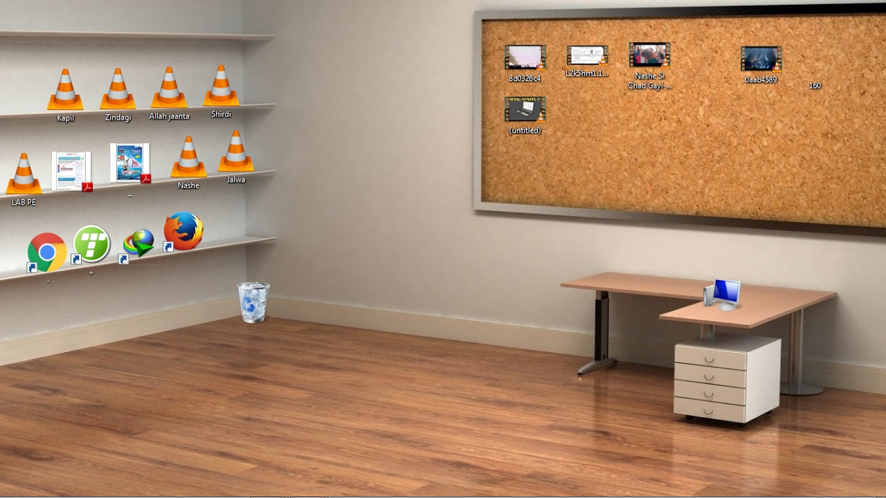 best theme for desktop,Classic 3D Desktop Workplace Wallpaper