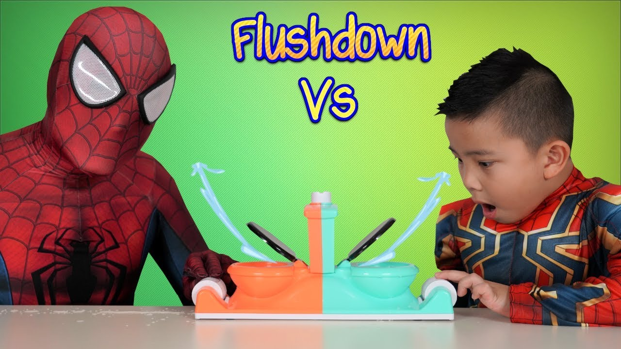 SPIDER DAD vs SPIDER BOY Toilet Trouble Childrens Funny Game CKN Toys