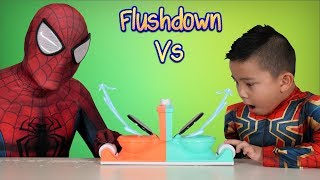 SPIDER DAD vs SPIDER BOY Toilet Trouble Children's Funny Game CKN Toys