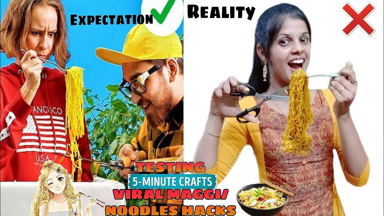 TESTING OUT VIRAL MAGGI/NOODLES HACKS by 5 minute crafts [TAMIL]