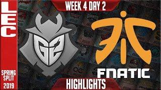G2 vs FNC (Caps vs Nemesis) Highlights   LEC Spring 2019 Week 4 Day 2   G2 Esports vs Fnatic