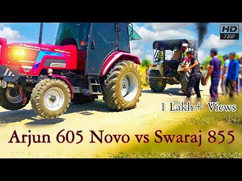 Swaraj 855 Punjab Vs Arjun Novo 605 Cab Haryana Tractor Tochan In Panipat