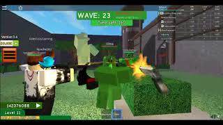 Roblox! playing zombie attack with apache263 and friends!