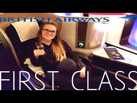 British Airways FIRST CLASS San Diego to London|Boeing 777-300ER