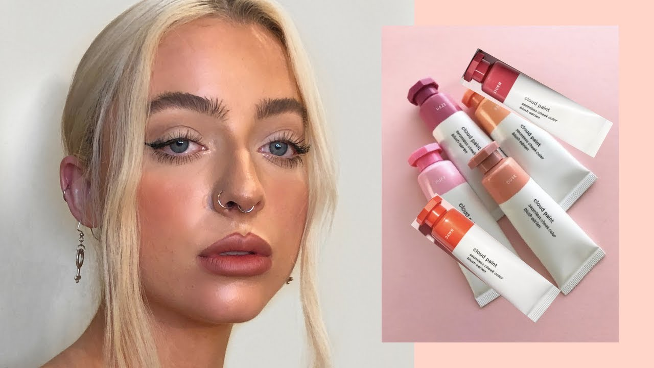 Trying New Glossier Cloud Paint Shades Swatching All 6