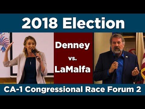Denney vs LaMalfa Forum 2–California District 1 Congressional Campaign 2018