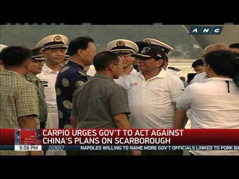 Carpio urges Duterte to act fast on China's Scarborough plan
