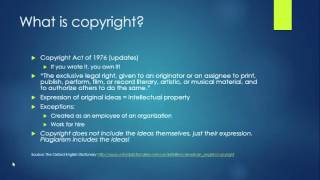 Lecture 3 Plagiarism and Copyright