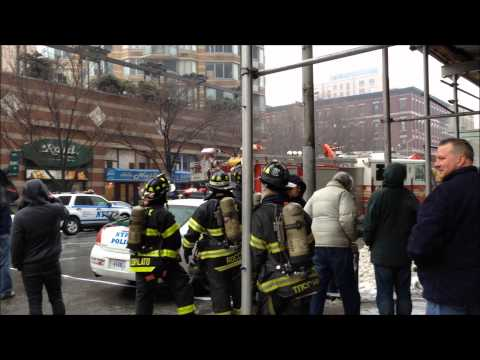 FDNY FIGHTING DEADLY 3 ALARM FIRE, AT THE STRAND BUILDING ON W. 43RD ST. IN MIDTOWN, MANHATTAN, NYC.