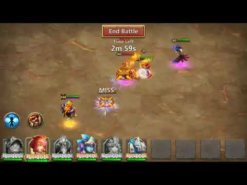 Castle Clash Boss 5 Easy Trick With Basic Heroes 01-04-2018