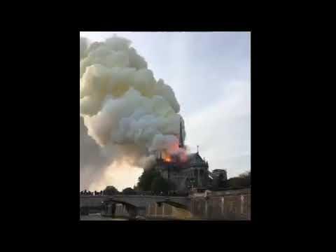 Пожар собор Парижской Богоматери. Обрушилась крыша. Собор Парижской Богоматери Notre-Dame De Paris