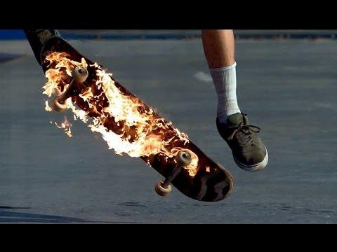 Insane Fireboarding in Slow Motion