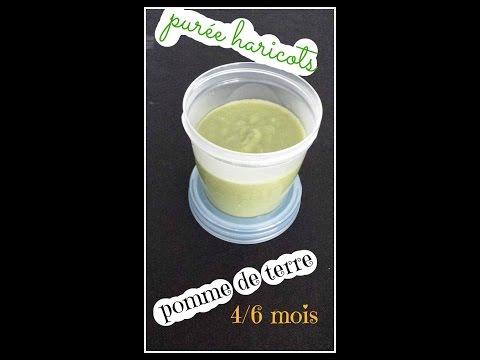 (-recette-bébé-n°7-)-haricots---pomme-de-terre-4/6mois-au-babycook