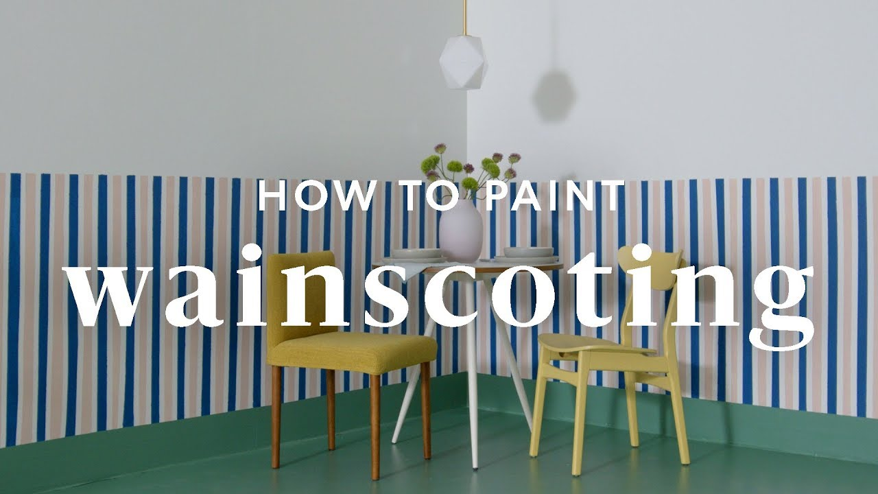 How To Paint Faux Wainscoting Youtube