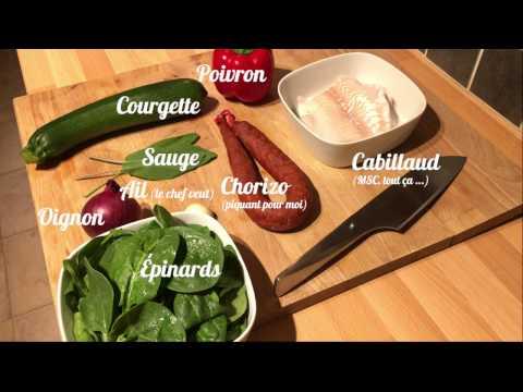[-recette-]-cabillaud-&-condiment-chorizo,-courgette-et-poivron