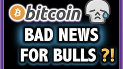 WHAT?!! BAD NEWS FOR BITCOIN BULLS?!! 🤯 Crypto Analysis TA Today & BTC Cryptocurrency Price Now 2020