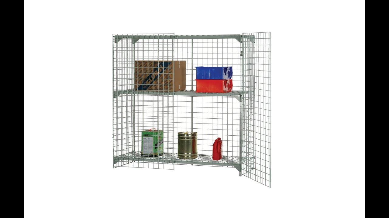 Wire Cage Bulk Storage Lockers