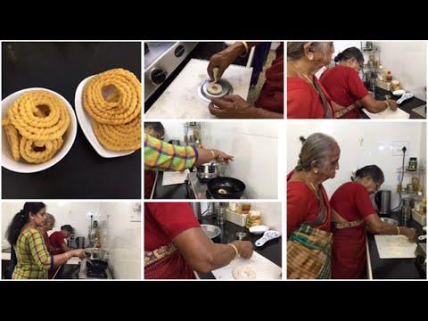 Hand Muruku Vlog/ Kai Murukku/Murukku Maavu Preparation (Mangalam Patti & Kanchana Mami)