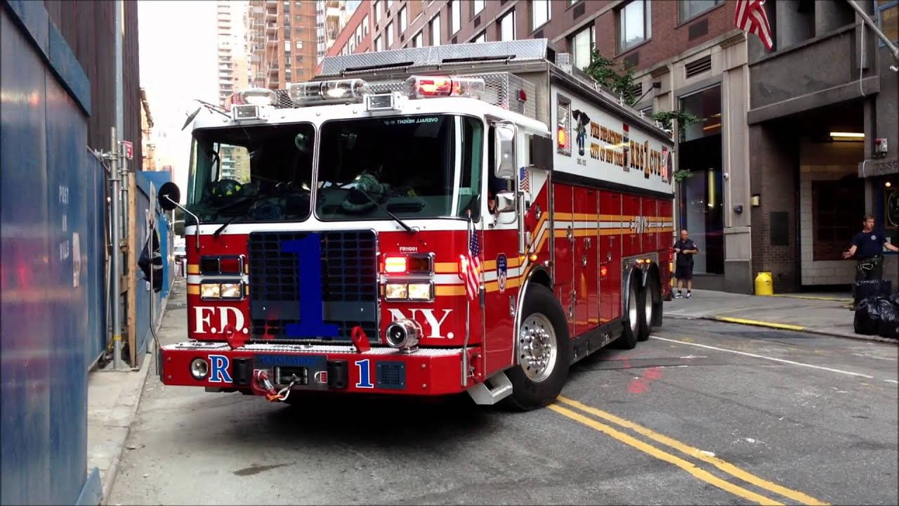 Fdny Rescue 1 Returning To Quarters On W 43rd St In