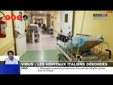 Les images choc d'un hôpital de Bergame, épicentre de l'épidémie
