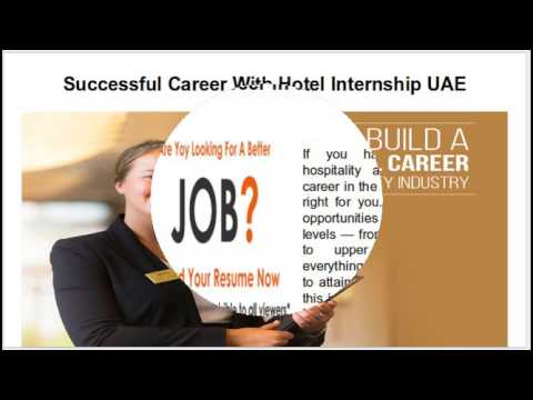 Search And Apply Online For Best Hotel Internship UAE