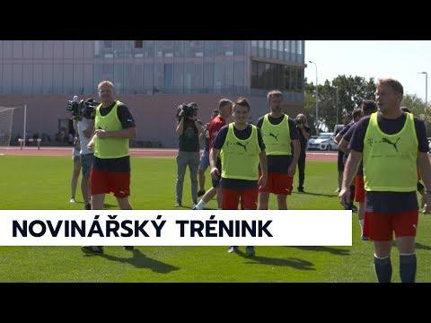 Novináři si vyzkoušeli trénink pod vedením Jaroslava Šilhavého