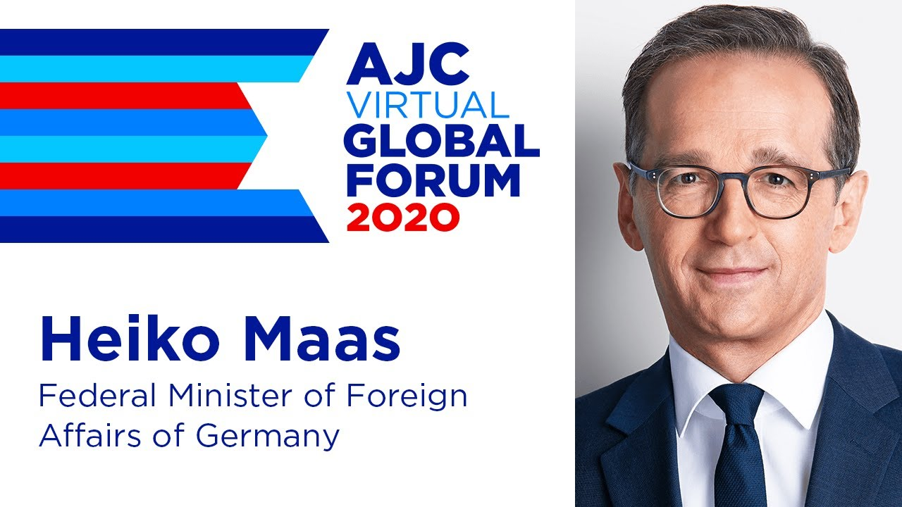 Catholic Socialist Demokrat Heiko Maas stutters his message to the AJC Global Summit 2020
