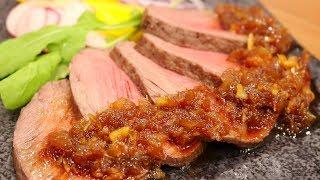 "【ASMR】Sounds of making ""Roast Beef"".【赤髪のとも】"