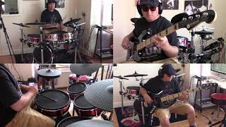 RABBIT ...CHAS AND DAVE ...BASS AND DRUMS COVER