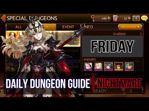 Seven Knights - Daily Dungeon Guide (Nightmare - Friday)