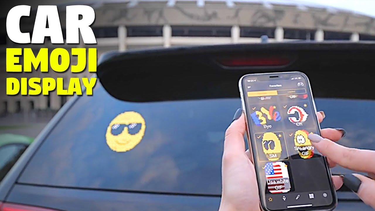 Car Rear Window Digital 3d Emoji Display Voice Controlled