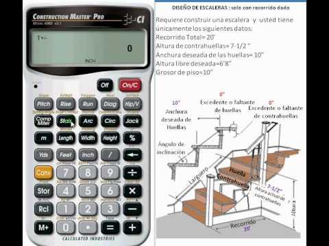 Dise ar una escalera con la calculadora construction for Trazar una escalera