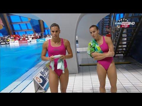 Kazan2015 Tania Cagnotto & Francesca Dallape (3m synchro prelim)