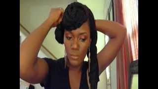 styling box braids 4 looks featuring a braided bang