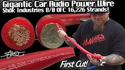 GIGANTIC 8/0 CAR AUDIO POWER WIRE - First Cut! Shok Industries 16,226 Strands OFC