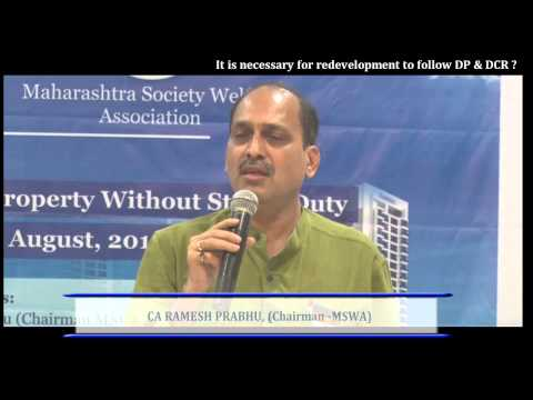 It is necessary for redevelopment to follow DP & DCR ?, CA Ramesh Prabhu