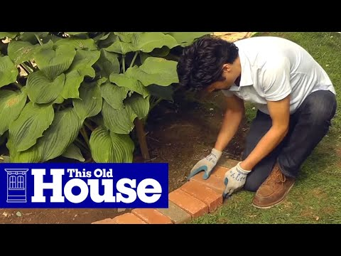 How to Edge a Garden Bed With Brick This Old House YouTube