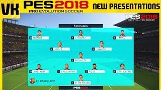 PES 2018 vs PES 2017: NEW MENU