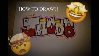 "How to draw the name ""JACOB"" in Graffiti letters!"